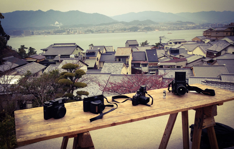 cameras in miyajima