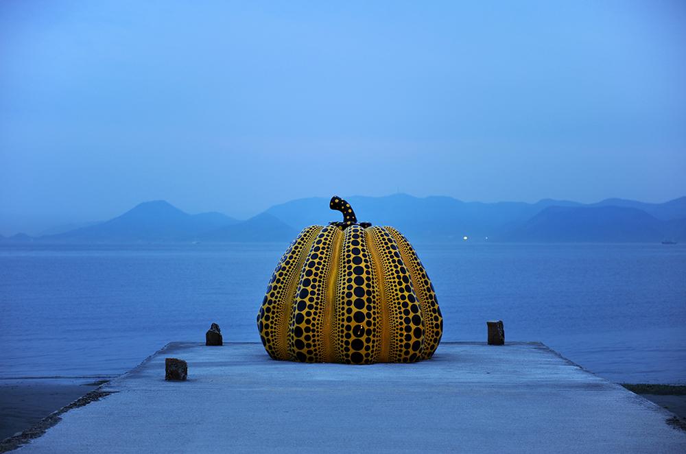 Bumpkin by Yayoi Kusama in Naoshima