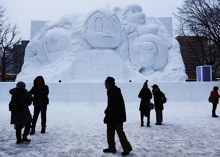 Snow and ice sculptures