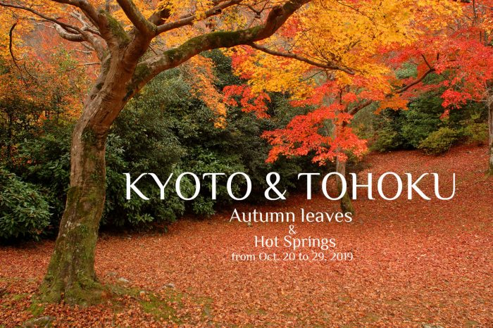 "Photo Tour to Japan Autumn, 2019: Kyoto & Tohoku ""Autumn Leaves & Hot Springs"""