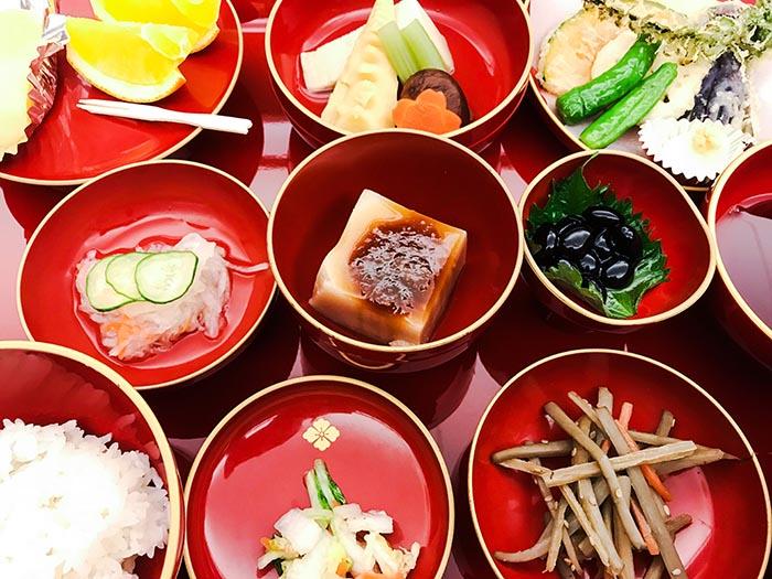 Japanese Vegetarian dinner monk's food