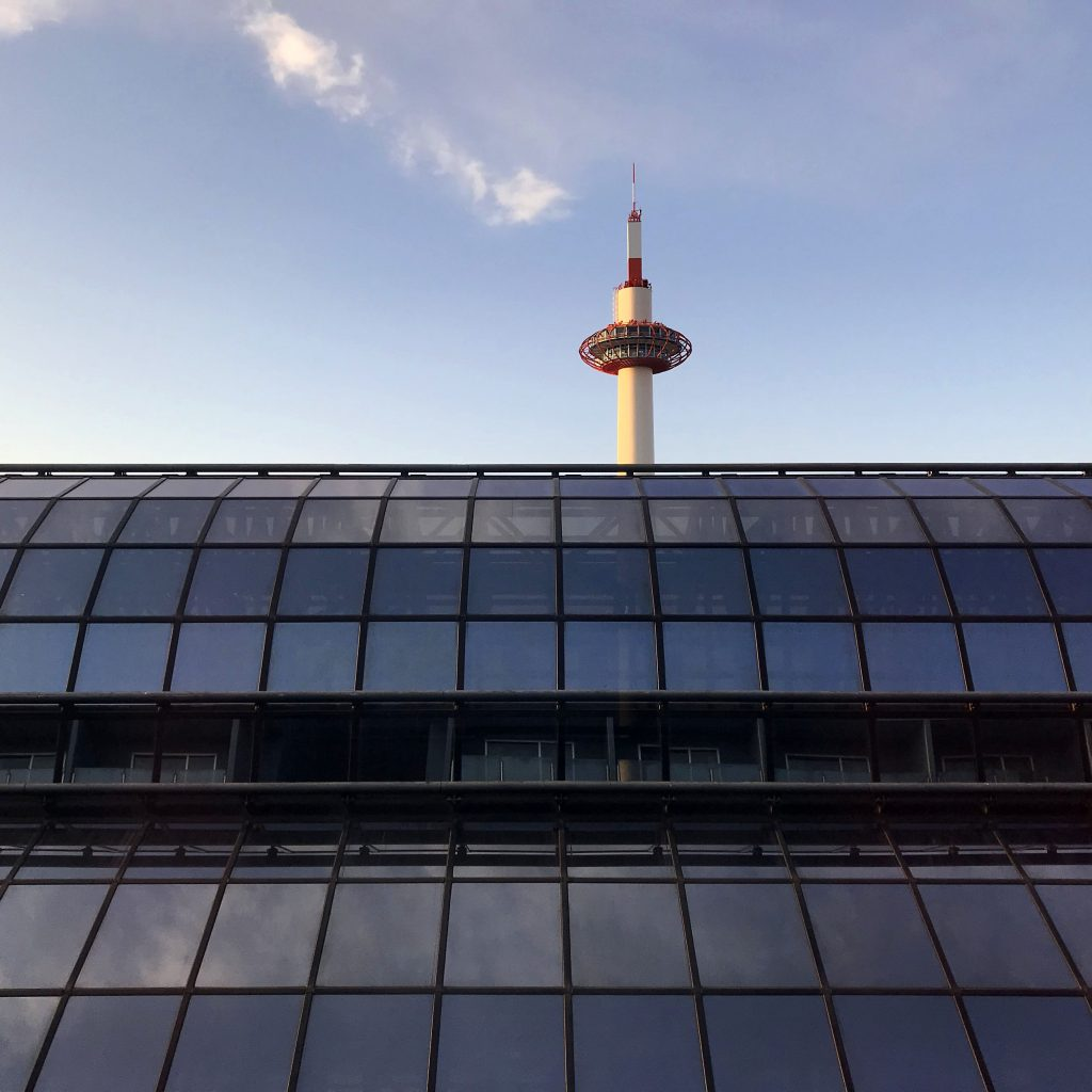 Kyoto Tower from Granvia Hotel